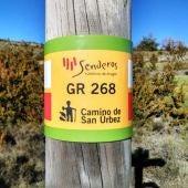 Punto del GR 268 del Camino de San Úrbez