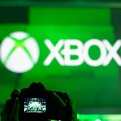 Logo de Xbox durante una conferencia del E3.