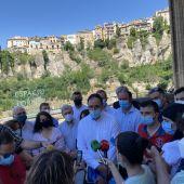 Prieto, esta semana, durante la presentación de su candidatura en el Parador de Cuenca