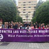 Imagen de archivo de una manifestación de la Red Feminista en la plaza del Altozano en Albacete