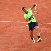 Rafa Nadal  en la semifinal de Roland Garros