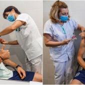Fabián y Gerard Moreno reciben la vacuna contra el coronavirus