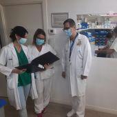 Personal de la planta de Neumología del Hospital General de Elche.