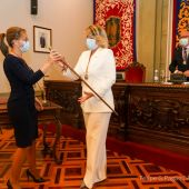 Noelia Arroyo releva a Ana Belén Castejón como alcaldesa de Cartagena