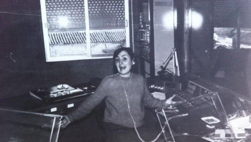 Concha Lobo, embarazada de Isabel, en Rueda Rato (año 1989)