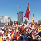 Manifestación en la Plaza de Colón de Madrid contra los indultos a los condenados por el 'procés'