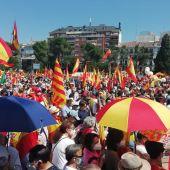 Manifestación contra los indultos al 'procés' en Colón
