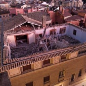 Este martes se inician las tareas de desescombro en el Obispado de Huesca