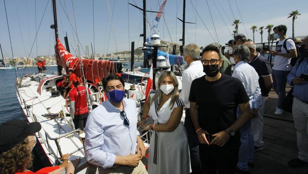 Luis Barcala, Mari Carmen Sánchez y Adrián Santos Pérez
