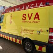 Ambulancia de Soporte Vital Avanzado que tiene base en la pedanía de El Altet de Elche.