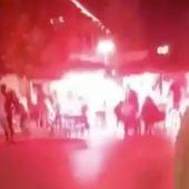 Lanzamiento de petardos en una terraza de Sabadell