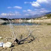 El pantano de la Vega del Jabalón está prácticamente agotado
