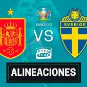Alineación confirmada de España hoy ante Suecia en el partido de la Eurocopa
