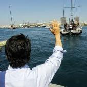 Luis Barcala en la despedida de la Ocean Race Europe desde Alicante
