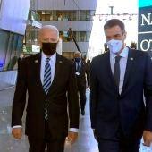 Joe Biden junto a Pedro Sánchez