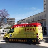 Una ambulancia del SAMU