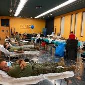 El salón de actos del MARQ durante la donación