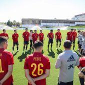 Imagen de un entrenamiento de la Selección