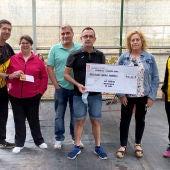 """El Club de Atletismo argamasillero entrega 740 euros a """"Brazos Abiertos"""""""