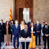 """Pere Aragonès agradece los indultos pero recuerda a Sánchez que """"es la hora de un referéndum pactado con un aval internacional"""""""