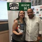 María Zaragoza en una reciente visita a Onda Cero Alcázar