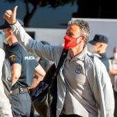 Luis Enrique a su llegada a Sevilla para enfrentarse a Eslovaquia
