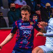 Luis Castillo en un partido en La Constitución con el Yeclano Deportivo