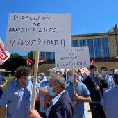Concentración servicio Mantenimiento Hospital Salamanca