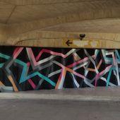 Mural bajo el puente 9 de Octubre