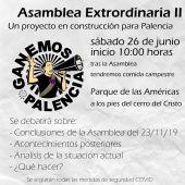 Ganemos Palencia celebra el sábado una asamblea extraordinaria