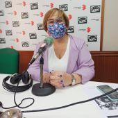 Carmen Olmedo en los estudios de Onda Cero Ciudad Real