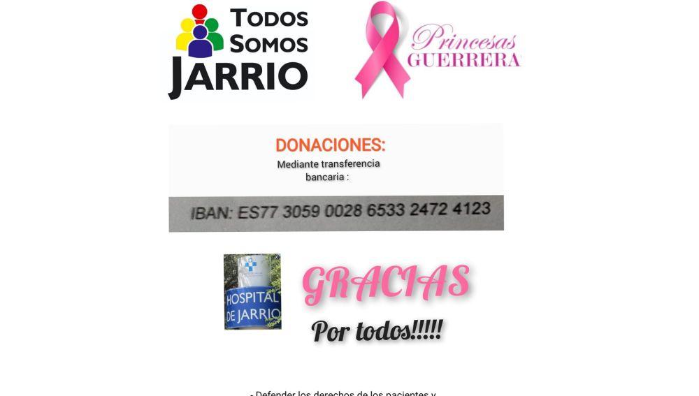 Todos Somos Jarrio habilita cuenta para donaciones.