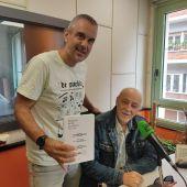 Rafa Gutiérrez y Miguel Rojo en las estudios de Onda Cero Gijón