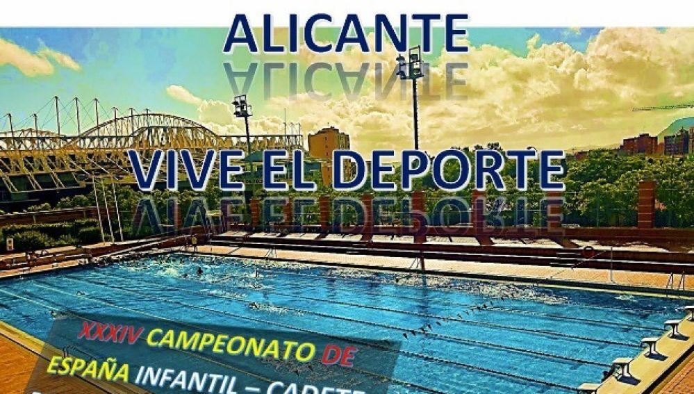 Cartel anunciador del Campeonato en Alicante