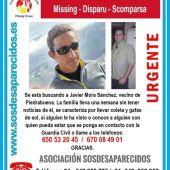 Se sigue buscando a Javier Mora