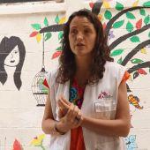 María Hernández, cooperante Médicos Sin Fronteras, durante su labor en México