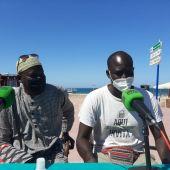 Instantes de la entrevista en Más de Uno Bahía de Cádiz
