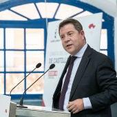 Emiliano García-Page durante su intervención en Almadén