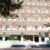 Fachada del Hotel Cassandra, en Mallorca