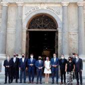 Pere Aragonès y los líderes independentistas
