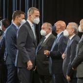 Pedro Sánchez y el rey Felipe VI, en un acto protocolario en el Mobile World Congress.