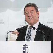 Emiliano García-Page durante su intervención en Puertollano