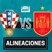 Alineación de España hoy ante Croacia en el partido de la Eurocopa