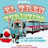 Cartel promocional del tren turístico de Puerto Real