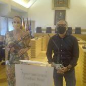 Eva Masías y Pedro Maroto durante la rueda de prensa