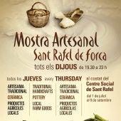 La Mostra Artesanal de Sant Rafel alcanza su décima edición con la participación de 20 puestos de artesanía y producto local