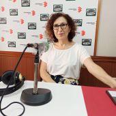 Laura Arriaga en los estudios de Onda Cero Ciudad Real
