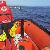 Labores de búsqueda de buzos de la Cruz Roja