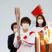 Imagen de la antorcha olímpica.