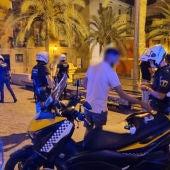 Dispositivo fin de semana de la Policía Local de Alicante